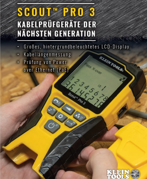 KLEIN TOOLS Scout Pro 3 Cable tester with PoE test function and Remote ID Kit